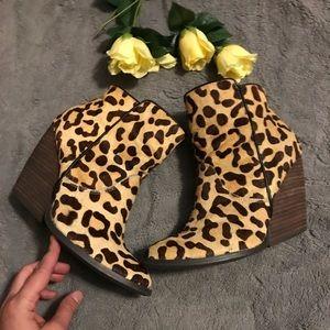 Very Volatile calfhair booties